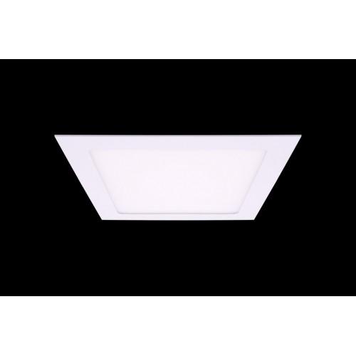 Светильник светодиодный потолочный встраиваемый PL, Белый, Пластик + алюминий, Нейтральный белый (4000-4500K), 18Вт, IP20