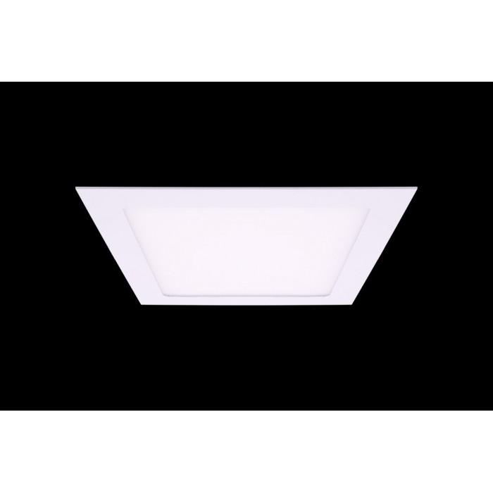 1Светильник светодиодный потолочный встраиваемый Белый, Пластик + алюминий, Нейтральный белый (4000-4500K), 18Вт, IP20