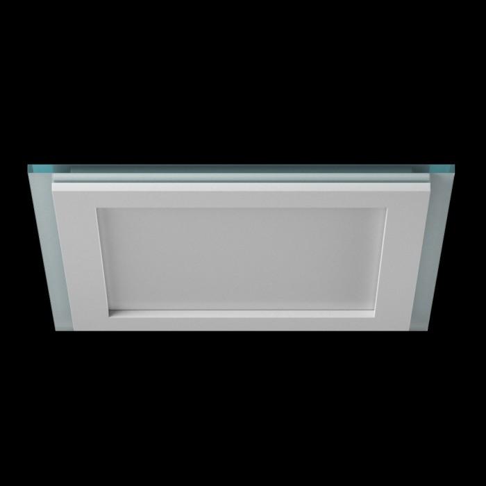 1Светильник светодиодный потолочный встраиваемый P, Белый, Сталь/Стекло, Нейтральный белый (4000-4500K)