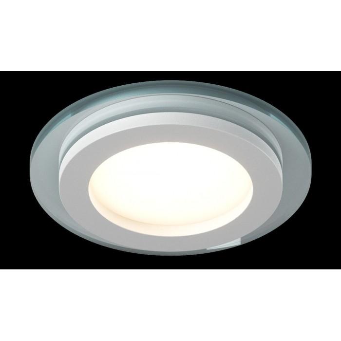 2Светильник светодиодный потолочный встраиваемый P, Белый, Сталь/Стекло, Нейтральный белый (4000-4500K), 6Вт