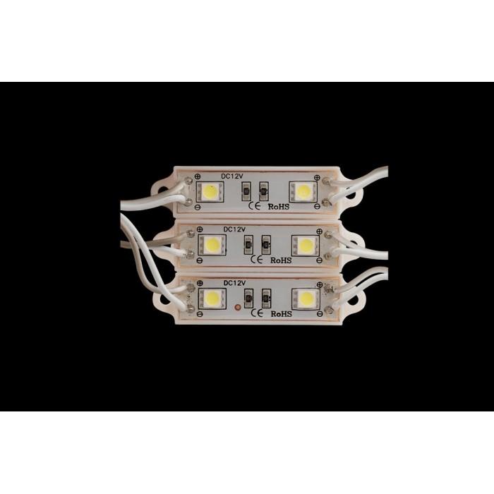 2Модуль светодиодый SWG, 2LED, 0,48Вт, 12В, IP65, Цвет: 6000-6500 К Холодный белый, провод 15см