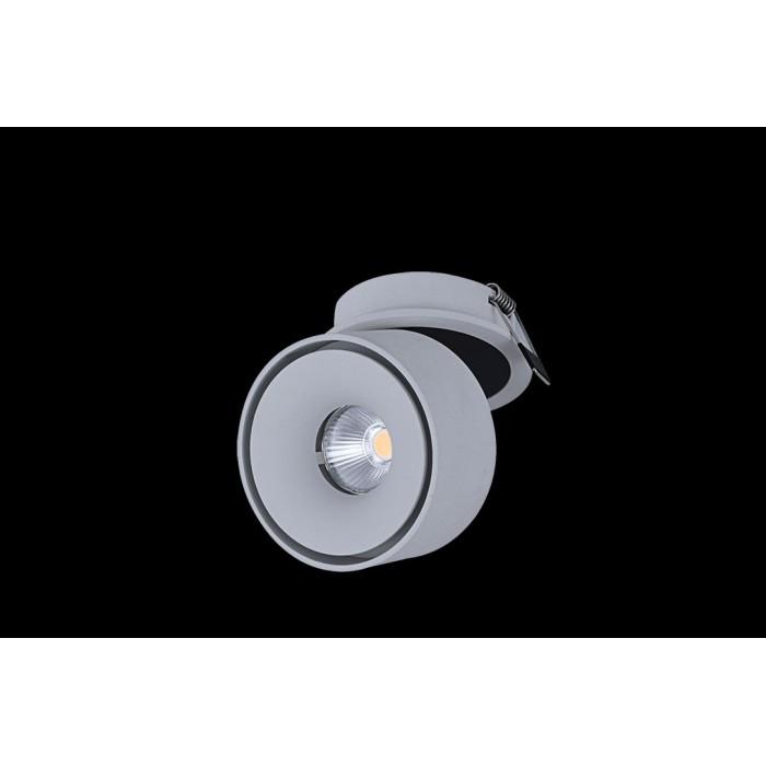 2Светильник светодиодный потолочный встраиваемый поворотный, серия WL, белый, 12Вт, IP20, Теплый белый (3000К)