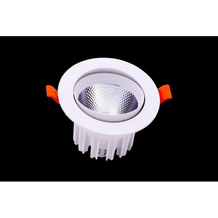 2Светильник светодиодный потолочный встраиваемый наклонный, серия DL-KZ, белый, 12Вт, IP20, Теплый белый (3000К)