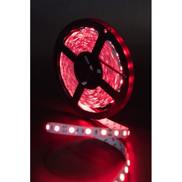 2Лента светодиодная эконом 5050, 60 LED/м, 14,4 Вт/м, 12В, IP20, Цвет: Красный