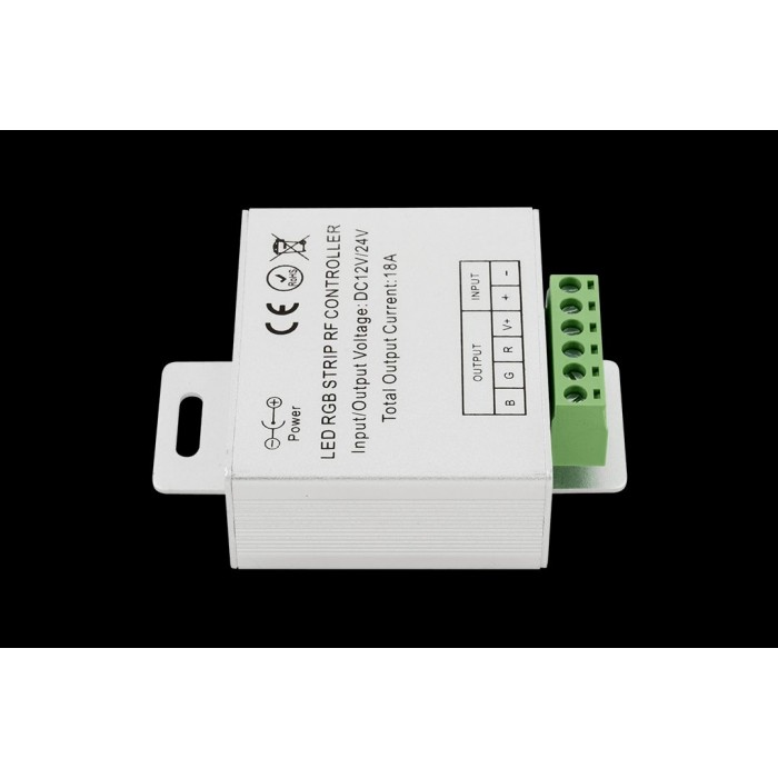 2Led controller touch DELUCE 18А, 12/24 Вольт, RF-RGB-S-18A-WH1