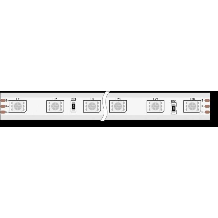 1Лента светодиодная 220, SMD5050, 60LED/м, кат 50м, 14,4 Вт/м, IP68, RGB (RGB)