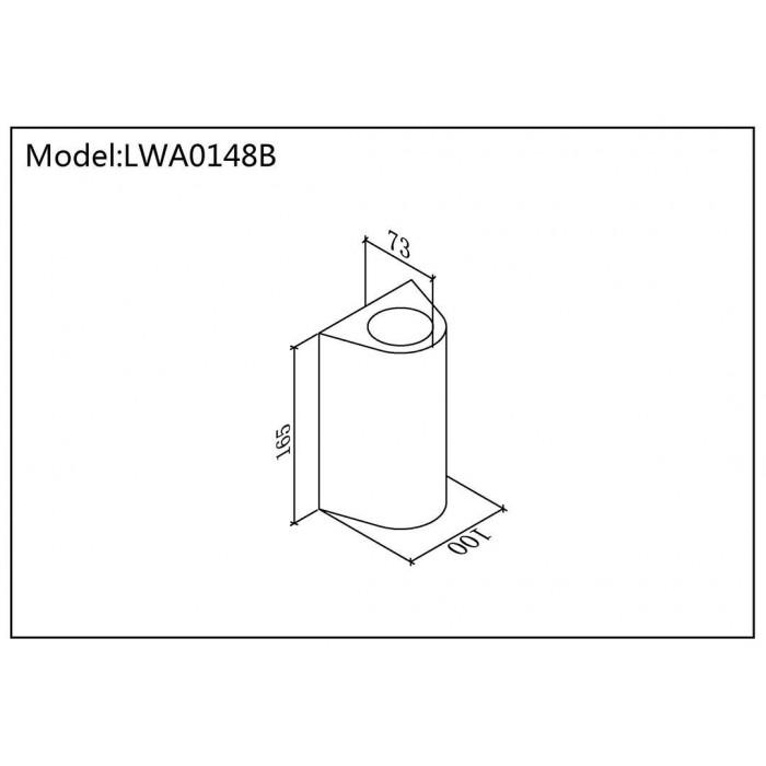 2Настенный светильник ZIMA-2, черный, 24Вт, 3000K, IP54, LWA0148B-BL-WW