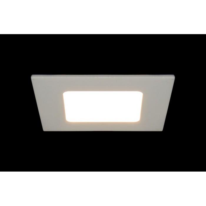 2Светильник светодиодный потолочный встраиваемый PL, Белый, Пластик + алюминий, Нейтральный белый (4000-4500K), 3Вт, IP20