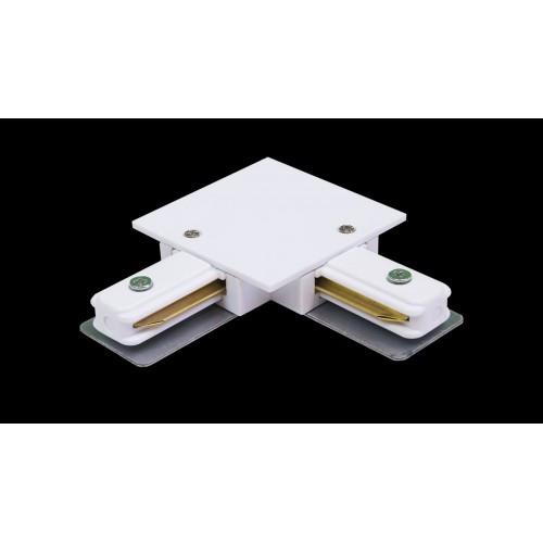 L коннектор для однофазных встраиваемых трековыx систем, белый