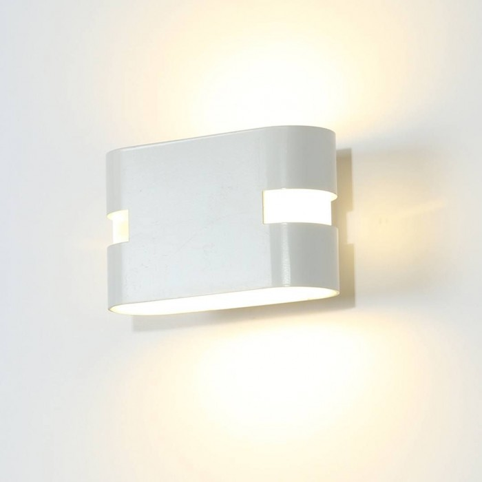 1Бра декоративное RAZOR HR, белый, 6Вт, 4000K, IP20, GW-1556-6-WH-NW