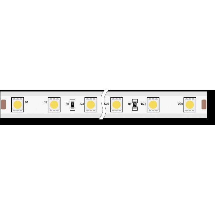 1Лента светодиодная 220, SMD5050, 60LED/м, кат 50м, 14,4 Вт/м, IP68, Холодный белый (6000-6500К Холодный белый)