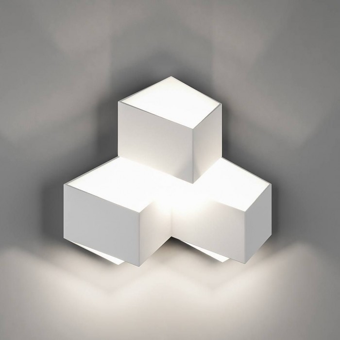 1Бра декоративное PALMIRA, белый, 9Вт, 4000K, IP20, GW-1101-3-9-WH-NW