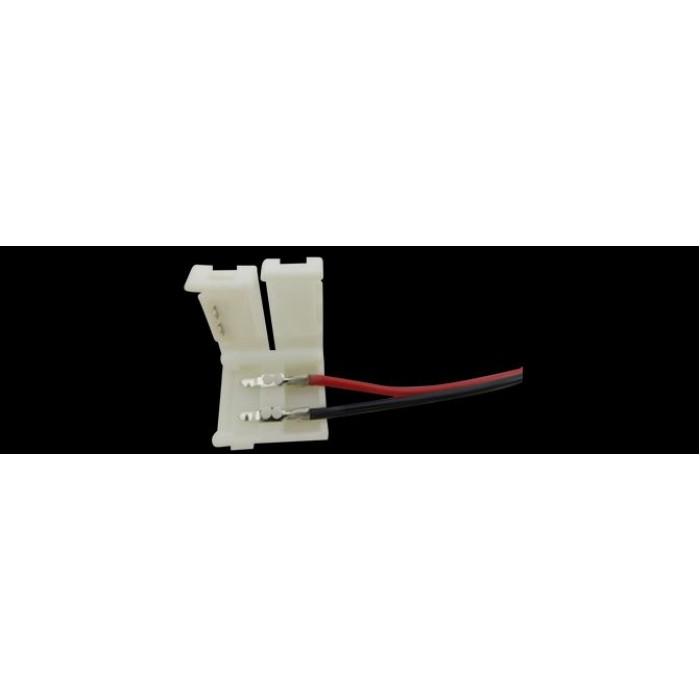 1Коннектор для ленты 5050 для подключения к БП (ширина 10 мм,длина провода 15 см )