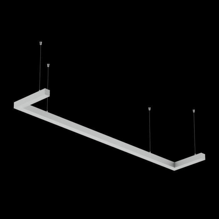 2Светильники из профиля U-Type-5050-1903-65-NW: Профиль LS 5050, Лента 4x DSG 2835 WW 280L-V24-IP33, 700LED, 26W/m, LUX, подвесы. Без блока питания.