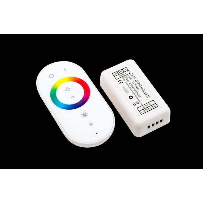 1LED RGB радио сенсорный 18A. 12/24V Белый, модель 2, RF-RGB-S-18A-WH2