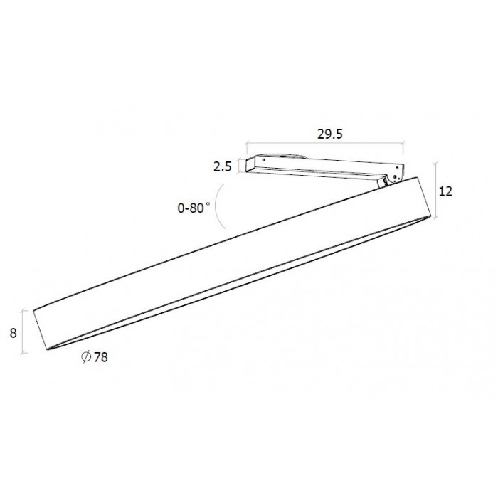 2LED светильник потолочный UF034-80-WH-NW белый 150Вт 4000