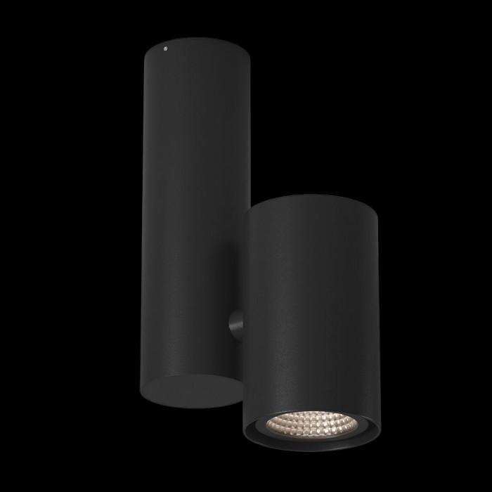 2Светильник под лампу GU10 потолочный накладной поворотный, серия MJ-2045, черный, IP20