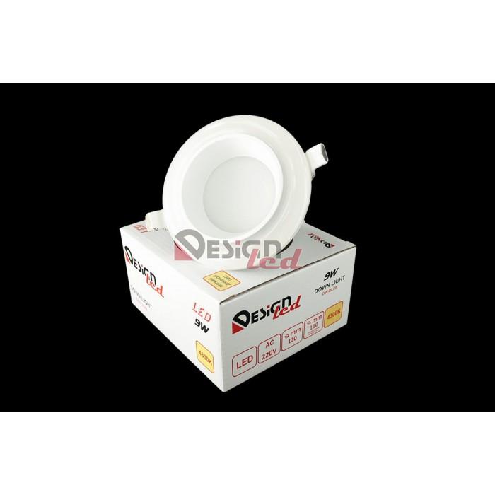 1Светильник светодиодный потолочный встраиваемый, серия DW-DL, белый, 9Вт, IP20, Нейтральный белый (4200К)