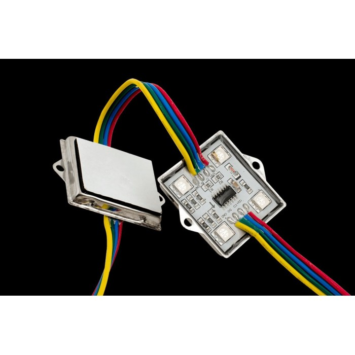 1Модуль светодиодый SWG, 4LED, 0,96Вт, 12В, IP65, Цвет: RGB, провод 15см