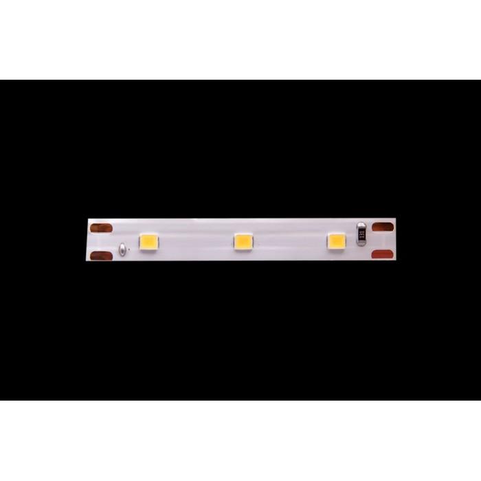 2Лента светодиодная эконом 2835, 60 LED/м, 4,8 Вт/м, 12В, IP20, Цвет: Теплый белый