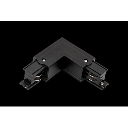 L коннектор для трековых систем, правый, черный