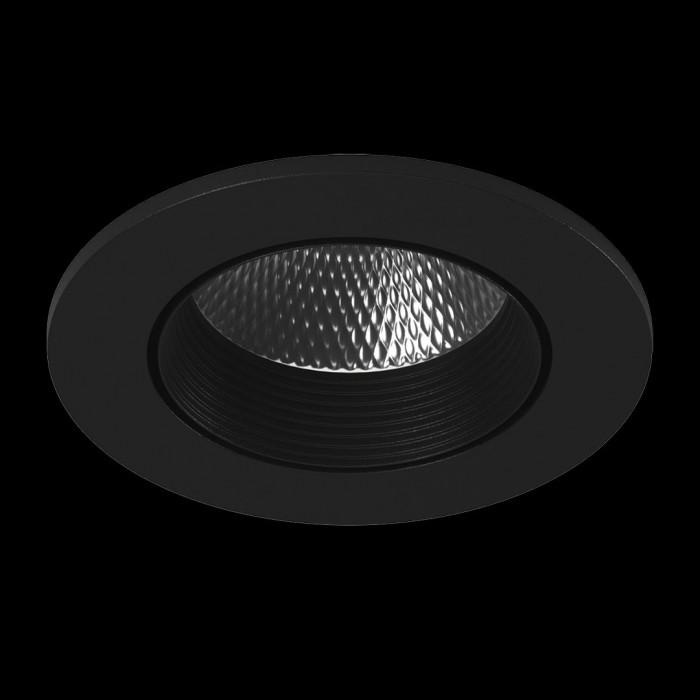 1Светильник светодиодный потолочный встраиваемый наклонный, серия DL-KZ, черный, 7Вт, IP20, Нейтральный белый (4000К)