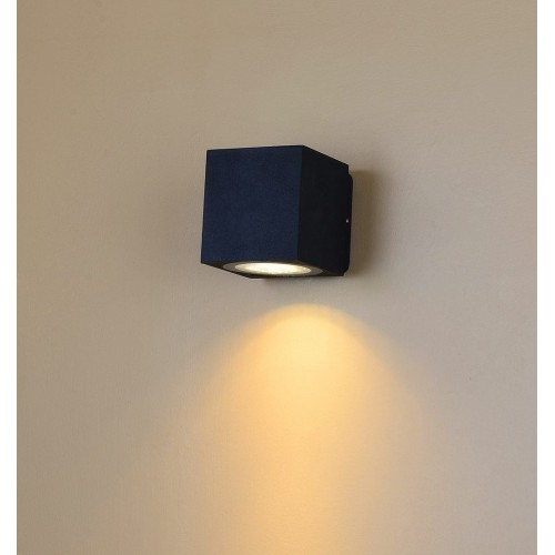 002807 Настенный светильник WELLS, черный, 12Вт, 3000K, IP54, LWA0150A-BL-WW