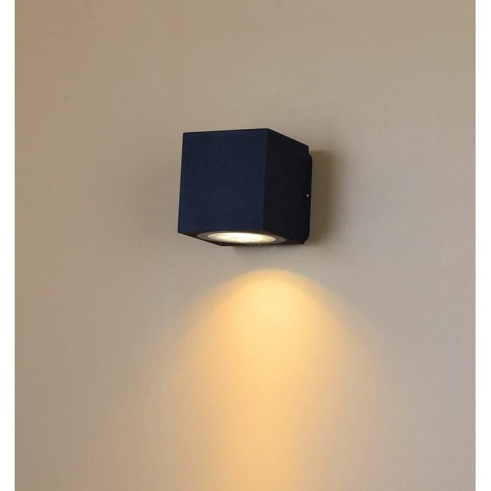 1Настенный светильник WELLS, черный, 12Вт, 3000K, IP54, LWA0150A-BL-WW