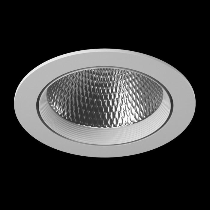 1Светильник светодиодный потолочный встраиваемый наклонный, серия DL-KZ, белый, 30Вт, IP20, Нейтральный белый (4000К)