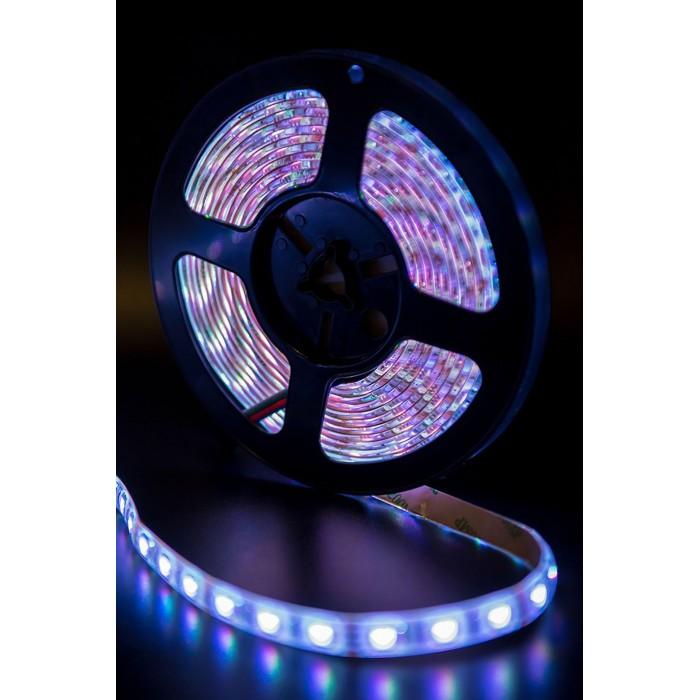 2Лента светодиодная стандарт 5050, 60 LED/м, 14,4 Вт/м, 12В, IP65, Цвет: RGB