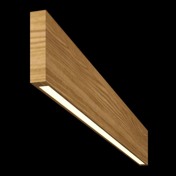 1Светильник из массива (ясень оливковый) длина 1200мм высота не менее 140мм 3000К, 12Вт