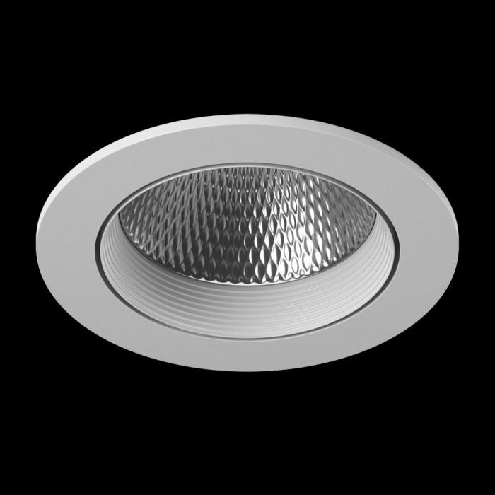1Светильник светодиодный потолочный встраиваемый наклонный, серия DL-KZ, белый, 12Вт, IP20, Теплый белый (3000К)