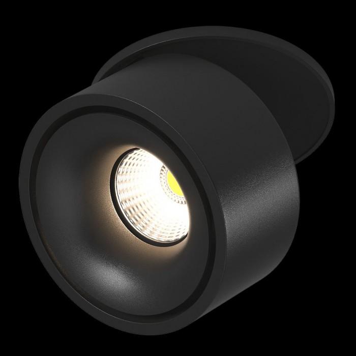 2Светильник светодиодный потолочный встраиваемый наклонно-поворотный, серия LK, Черный, 9Вт, IP20, Теплый белый (3000К)