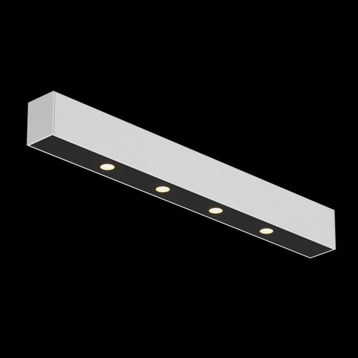 1Светильник светодиодный потолочный накладной, серия FA, черно-белый, 5,3Вт, IP20, Теплый белый (3000К)