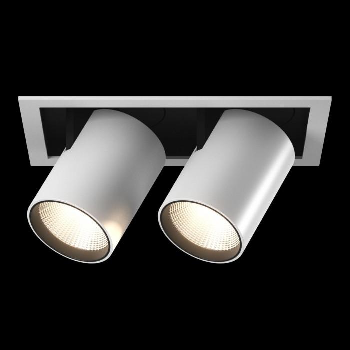 1Светильник светодиодный потолочный встраиваемый поворотно-выдвижной, серия SPL, матовый белый + черный, 25Вт, IP20, Нейтральный белый (4000К)