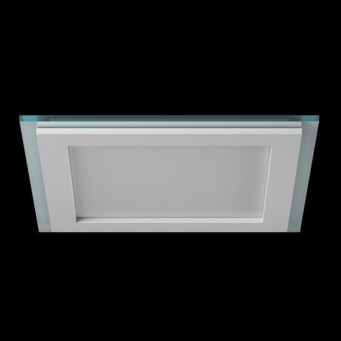 1Светильник светодиодный потолочный встраиваемый P, Белый, Сталь/Стекло, Холодный белый (6000-6500K), 18Вт, IP20