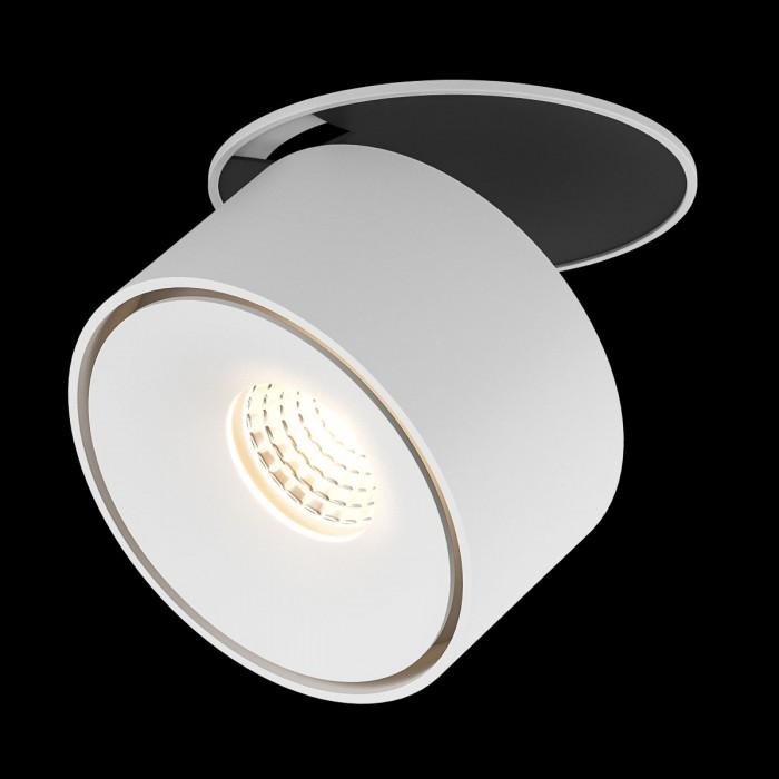 1Светильник светодиодный потолочный встраиваемый, серия GW, белый, 9Вт, IP20, Теплый белый (3000К)