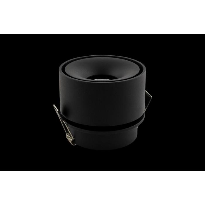 1Светильник светодиодный потолочный встраиваемый поворотный, серия WL, черный, 12Вт, IP20, Нейтральный белый (4000К)