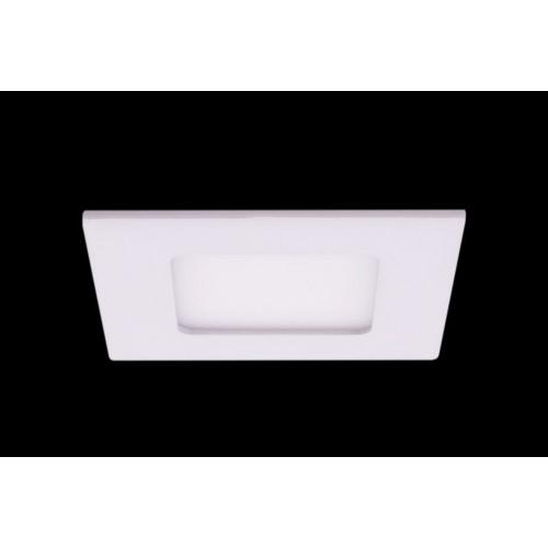 Светильник светодиодный потолочный встраиваемый PL, Белый, Пластик + алюминий, Нейтральный белый (4000-4500K), 3Вт, IP20