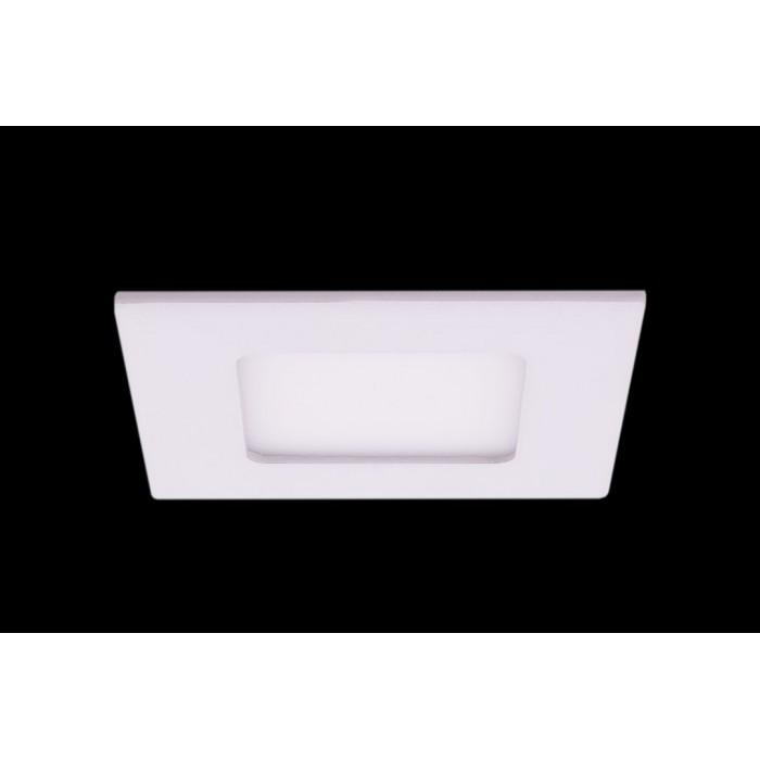 1Светильник светодиодный потолочный встраиваемый PL, Белый, Пластик + алюминий, Нейтральный белый (4000-4500K), 3Вт, IP20