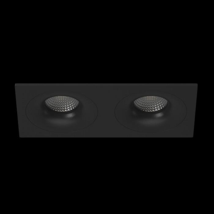 1Светильник под лампу Gu10 потолочный встраиваемый, серия DL-MJ-1012, черный, 35 (max)Вт, IP20