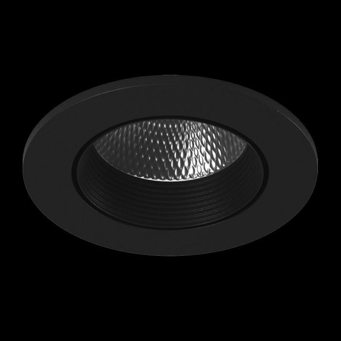 1Светильник светодиодный потолочный встраиваемый наклонный, серия DL-KZ, черный, 7Вт, IP20, Теплый белый (3000К)
