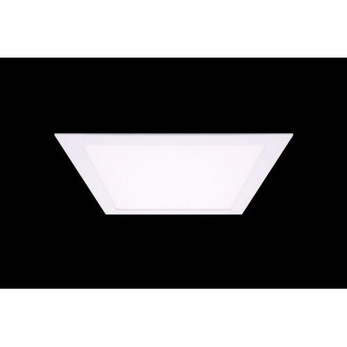 Светильник светодиодный потолочный встраиваемый PL, Белый, Пластик + алюминий, Нейтральный белый (4000-4500K), 24Вт, IP20
