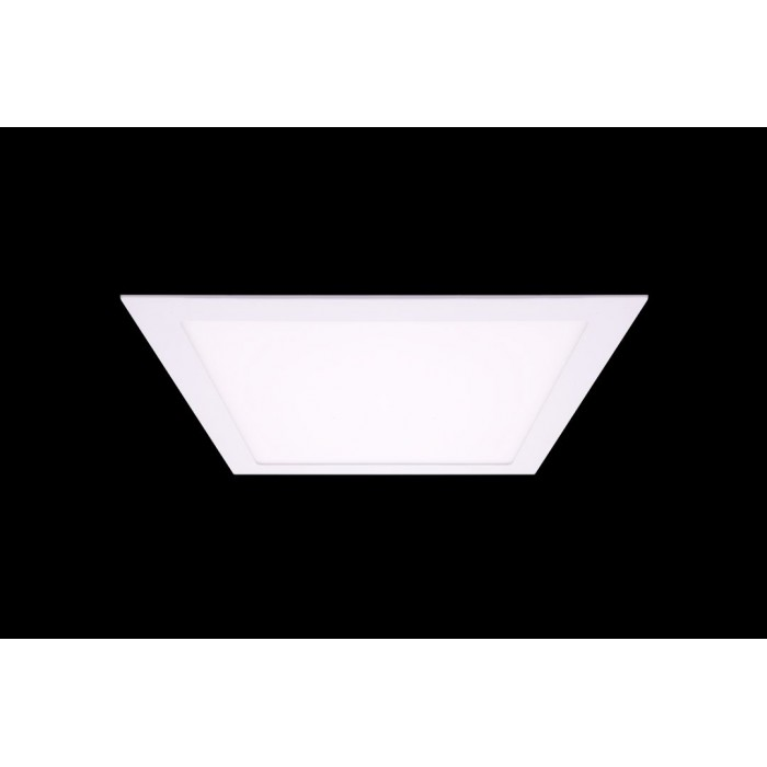 1Светильник светодиодный потолочный встраиваемый, Белый, Пластик + алюминий, Нейтральный белый (4000-4500K), 24Вт, купить Минск