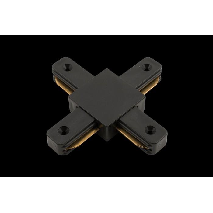 1x коннектор для однофазных трековыx систем, Черный