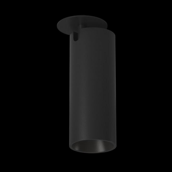1Светильник под лампу Gu10 потолочный встраиваемый поворотный, серия MJ-2037, черный, 35 (max)Вт, IP20