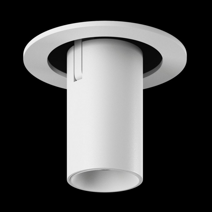 1Светильник светодиодный потолочный встраиваемый поворотно-выдвижной, серия DL-UM9, белый, 7Вт, IP20, Теплый белый (3000К)
