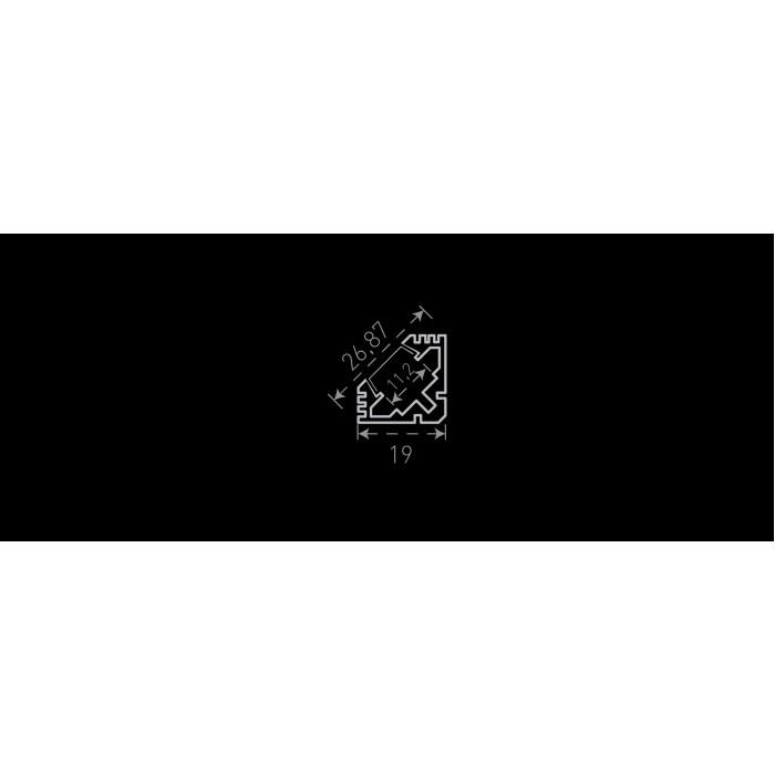 2Алюминиевый профиль накладной угловой SF-1919