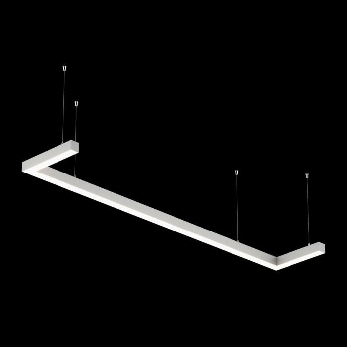 1Светильники из профиля U-Type-5050-1903-65-NW: Профиль LS 5050, Лента 4x DSG 2835 WW 280L-V24-IP33, 700LED, 26W/m, LUX, подвесы. Без блока питания.