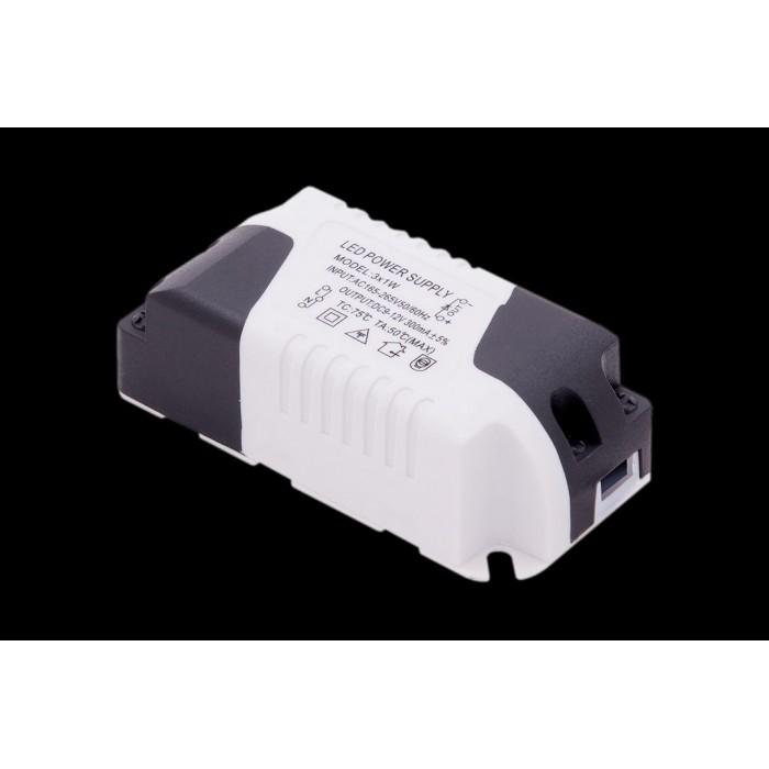 2Светильник светодиодный потолочный встраиваемый PL, Белый, Пластик + алюминий, Теплый белый (2700-3000K), 3Вт, IP20